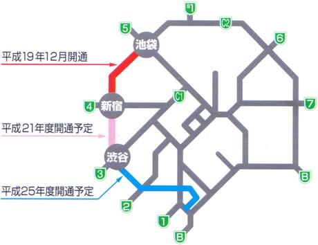 都心環状線、池袋~新宿~渋谷