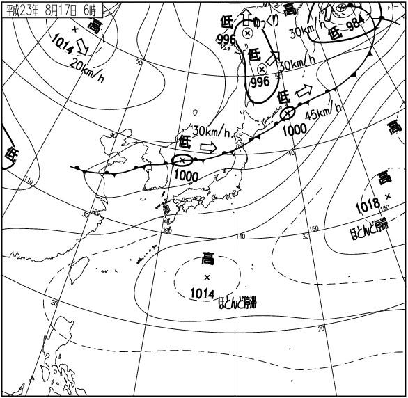 気象庁、天気図